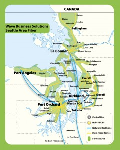 Wave Broadband has one of the largest fiber optic networks along the West Coast.