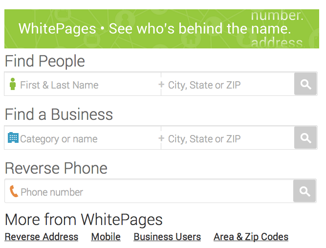 Whitepages Reverse Lookup - senchou info