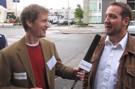 GeekWire's John Cook interviews entrepreneur Tony Wright at last year's Seattle 2.0 Startup Awards