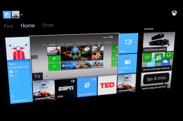 Yep, it's the Xbox 360 dashboard inside of the Xbox One dashboard. Trippy!