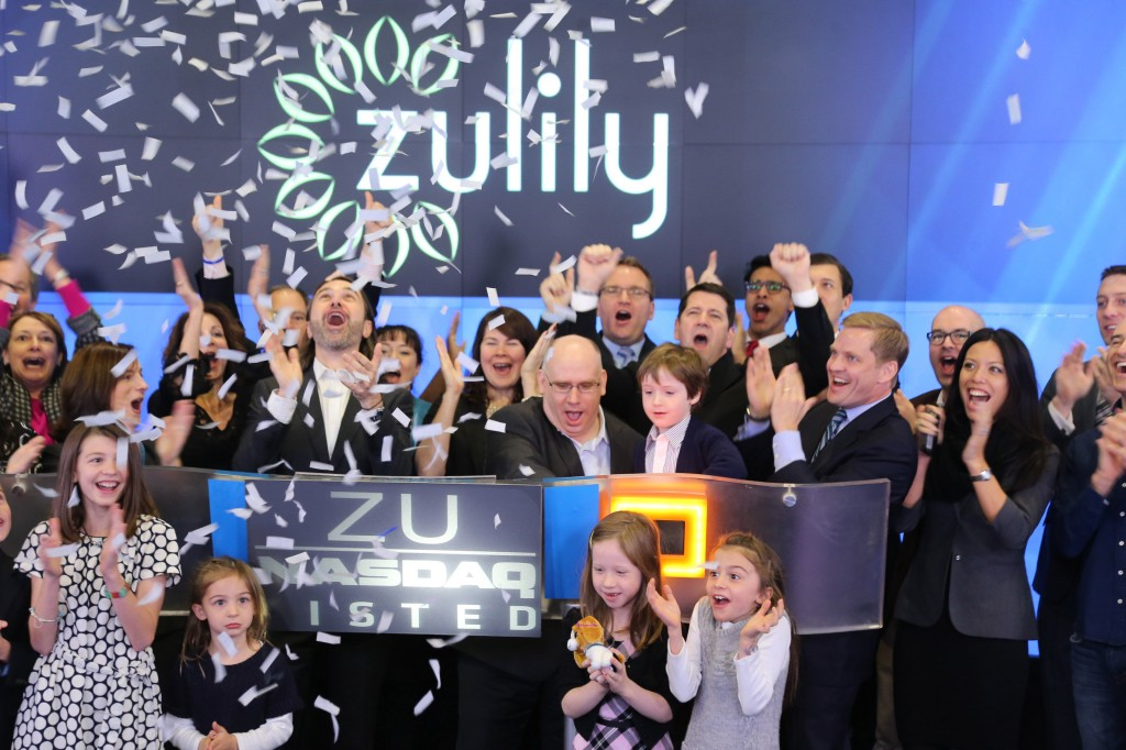 Zulily celebrates its 2013 IPO.
