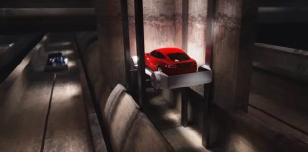 Boring Company transit tunnel