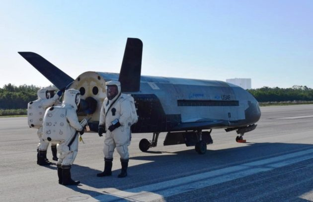 Unmanned US Air Force space plane lands after secret, 2-year mission