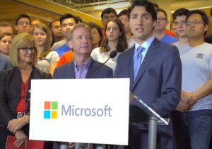 Trudeau and Microsoft