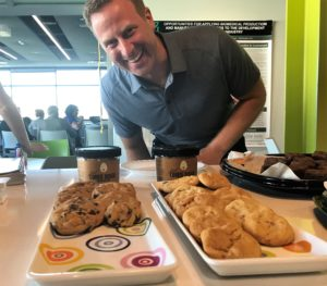 Josh Balk and Hampton Creek cookies
