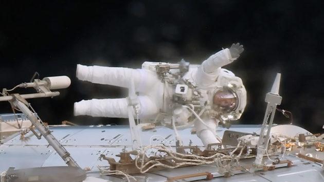 Jack Fischer on spacewalk