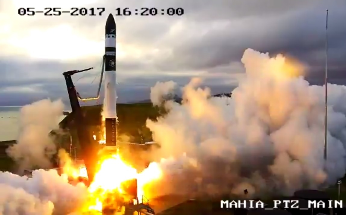 Rocket Lab Sends Electron Rocket Into Space From New