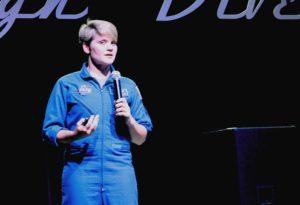 NASA astronaut Anne McClain at Nerd Night Seattle