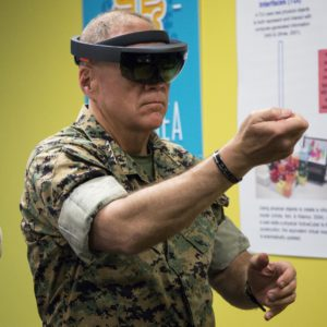 Top Marine tries HoloLens