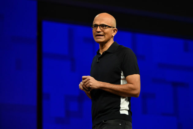 Microsoft CEO Satya Nadella at Build 2017 in Seattle