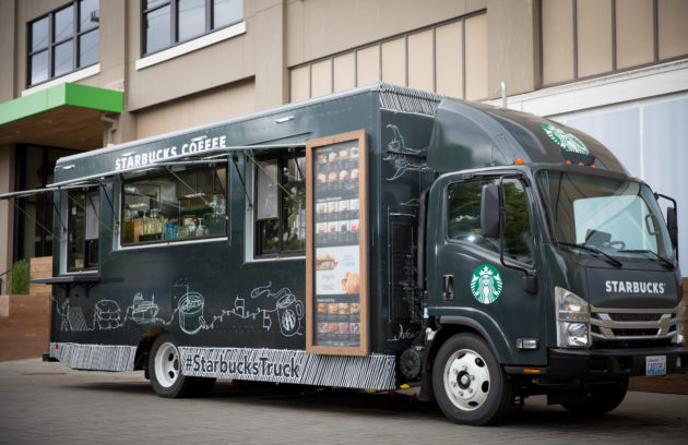 Starbucks Rolls Its Own Coffee Truck In Front Of Seattle HQ To
