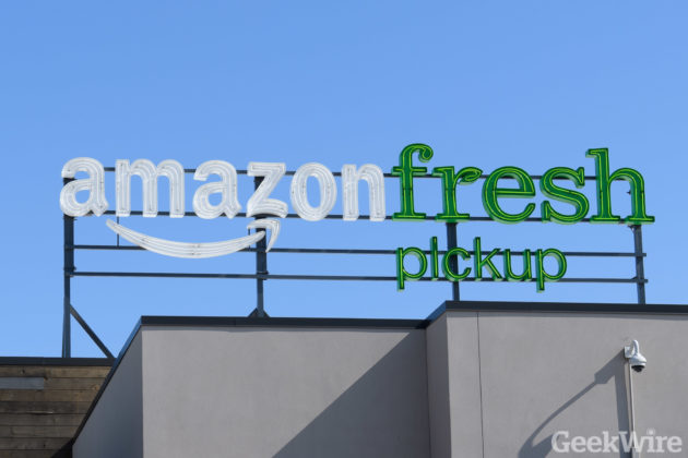 Amazon opens its drive-through grocery store