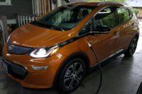 Chevrolet Bolt EV charging at home