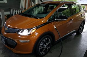 Chevrolet Bolt EV charging at home