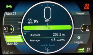 The Chevrolet Bolt EV still had 25 percent battery remaining at the end of a 203-mile trip to Leavenworth, WA