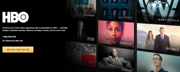 HBO Now on Amazon