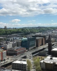 Mount Rainier in the distance, viewed from MemSQL's new Seattle office.