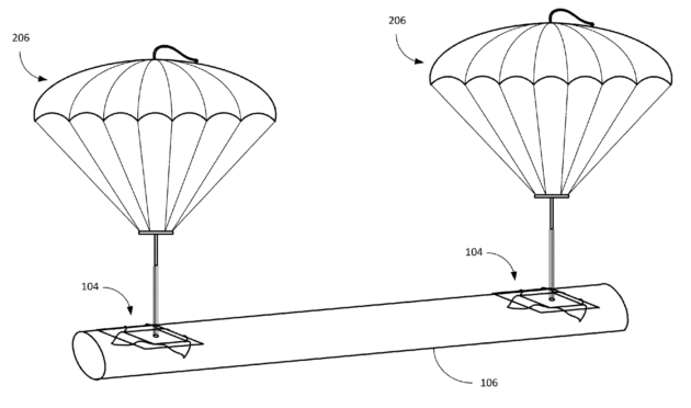 Amazon patents shipping label with built-in parachute