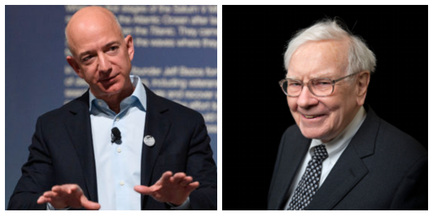 Jeff Bezos, Warren Buffett