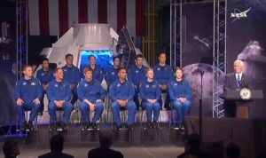 Pence and NASA astronaut candidates