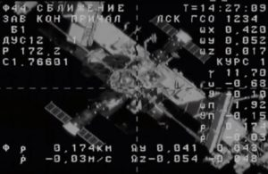 Space station as seen by Soyuz