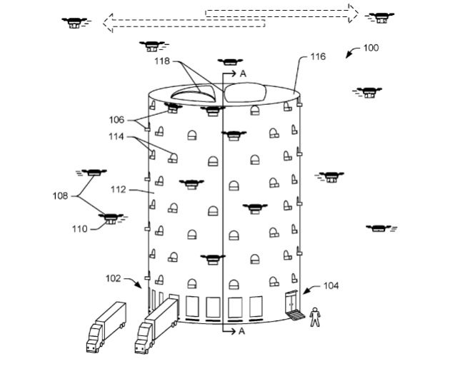 Amazon patent envisages keeping drones in beehive-like structures for delivery