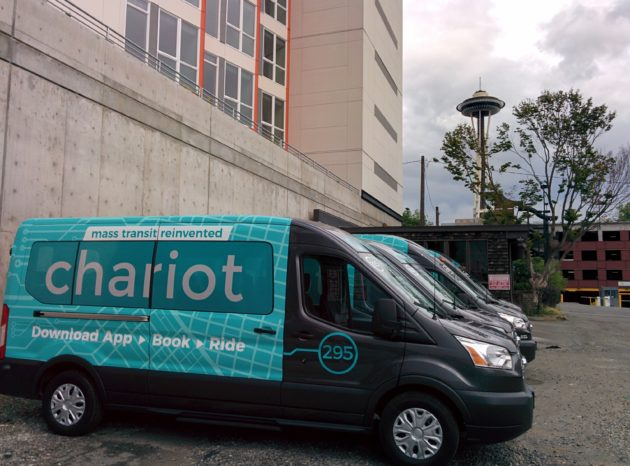 Chariot wants to launch public mini-bus commuting service in Seattle early next year, with 100K riders and electrification by 2019