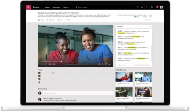Microsoft's new internal video hub, Microsoft Stream, is now generally available