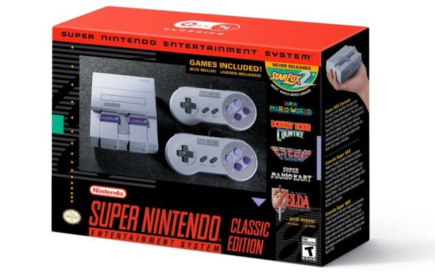 The SNES Classic Edition, coming September 29 for $79.99