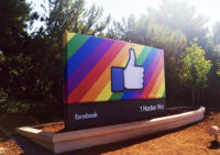 Facebook Pride sign