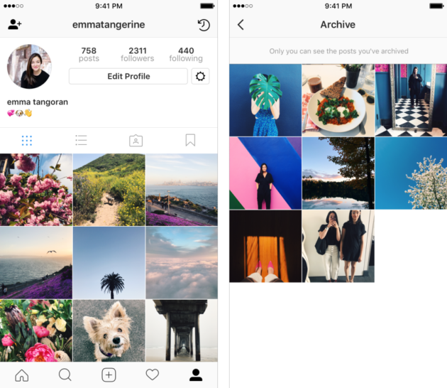 Instagram Rolls Out Archives to Let You Hide Embarrassing Old Photos