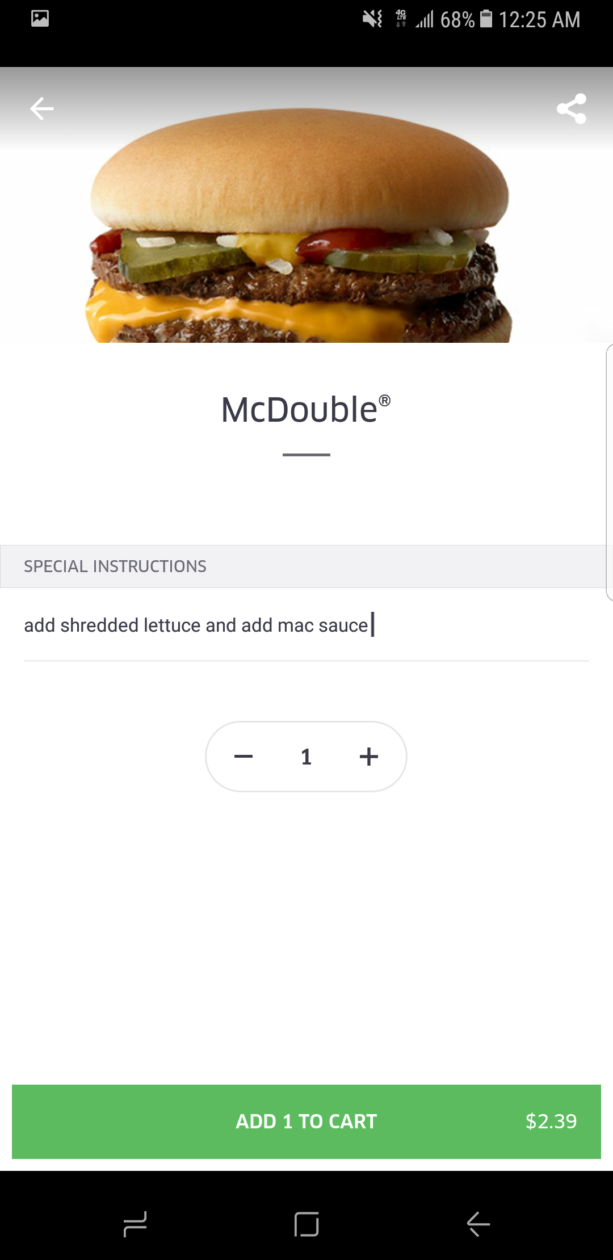 I tested McDonald's new UberEats delivery service at midnight