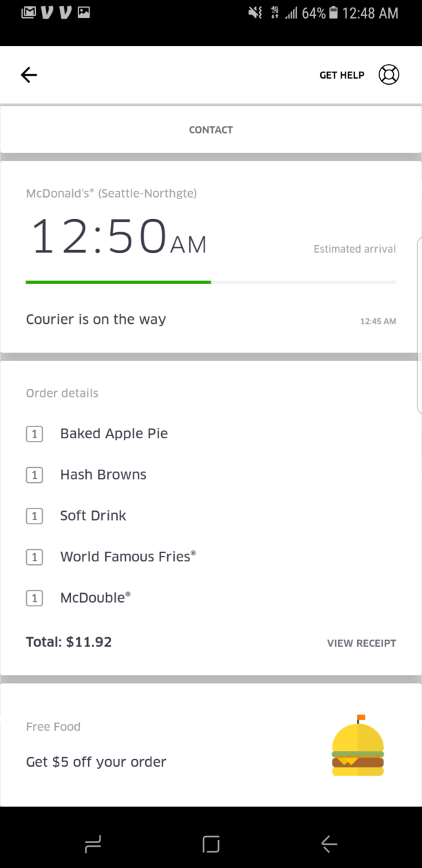 I Tested Mcdonalds New Ubereats Delivery Service At