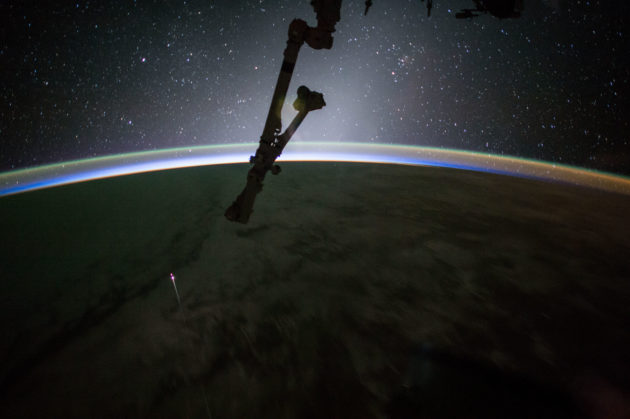 SpaceX Dragon as seen from ISS