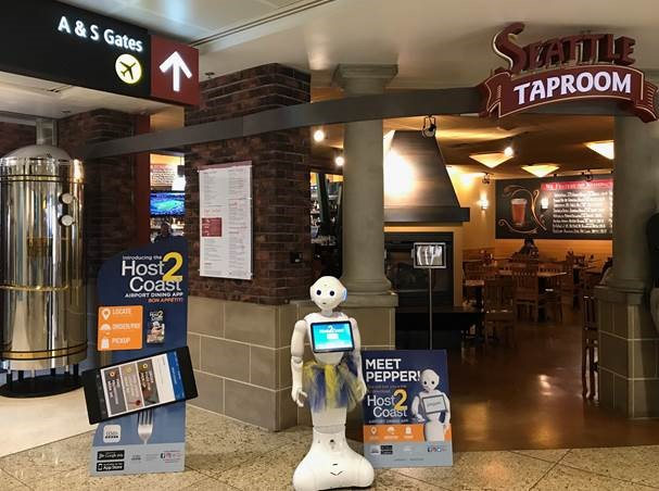 Pepper robot at Sea-Tac