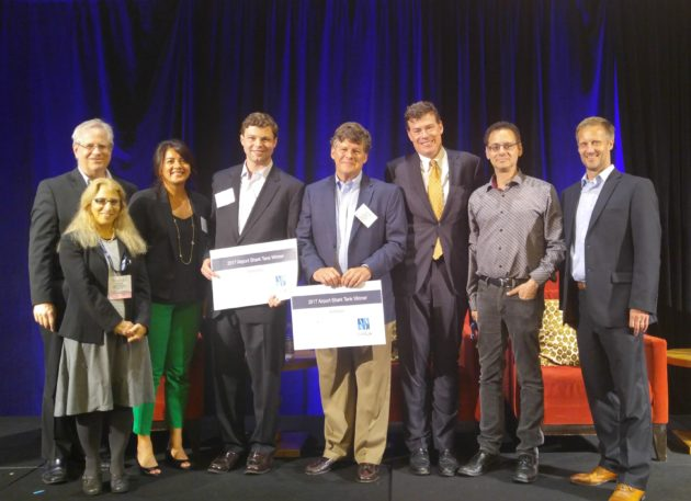 Judges and winners of Airport Shark Tank