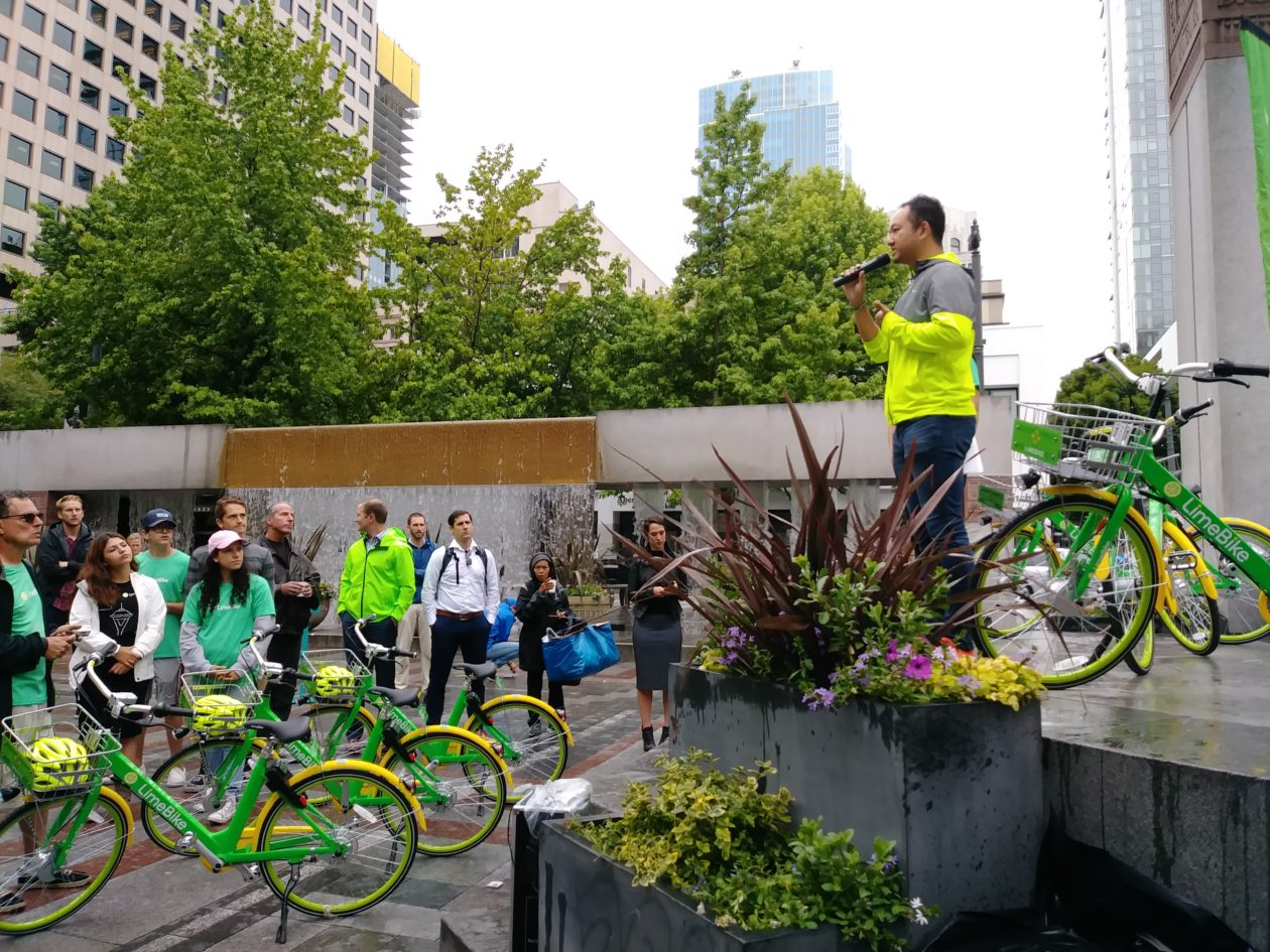 Tech moves spin bike share service hires seattle transportation there are now 1000 bike share bicycles in seattle as limebike officially launches service malvernweather Images
