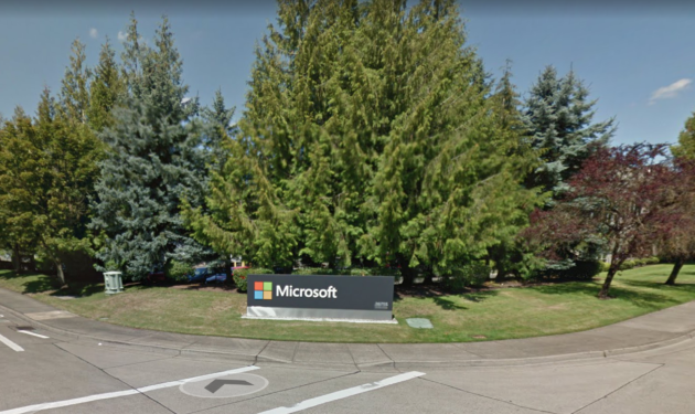 Microsoft's Surface Hub facility in Wilsonville, OR, will shut down in September. (Google Street View Photo)