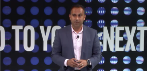 Navin Shenoy, executive vice president and general manager, Intel's Data Center Group (Screenshot)