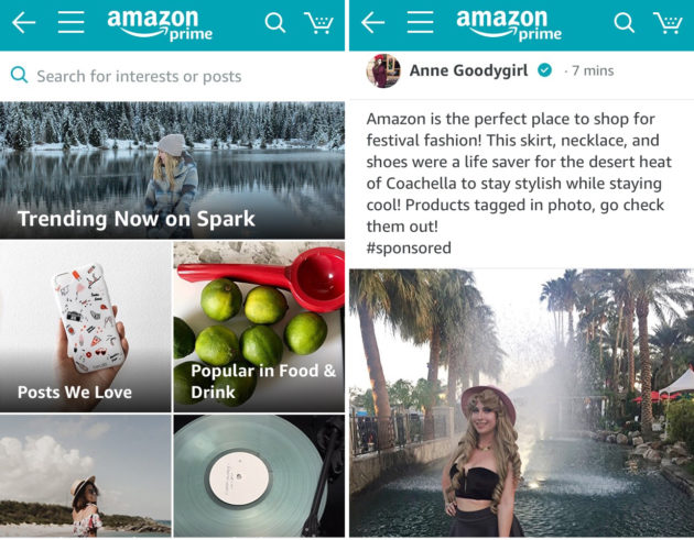 7a5f1e4cf6 Amazon Spark is a new Instagram-inspired shopping feed featuring ...