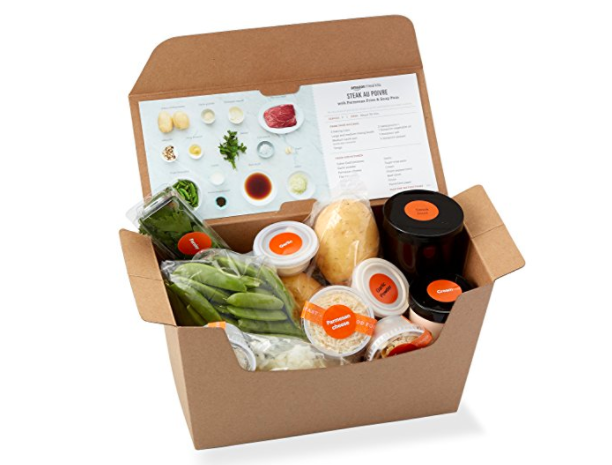 amazon is already selling pre packaged meal kits as it bites into service from blue apron and. Black Bedroom Furniture Sets. Home Design Ideas