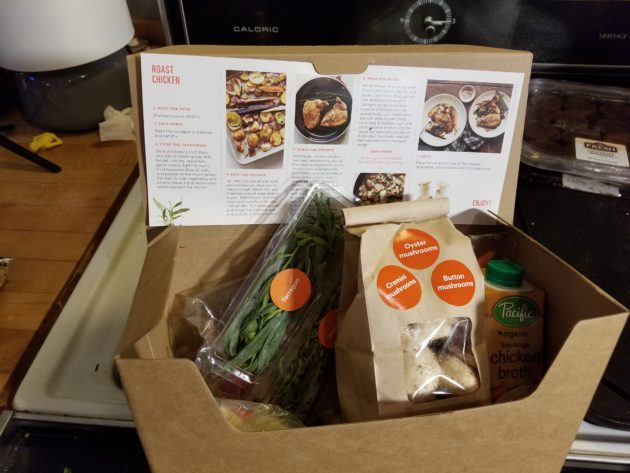 We made dinner at home with amazon meal kits the tech for Are lean cuisine boxes recyclable