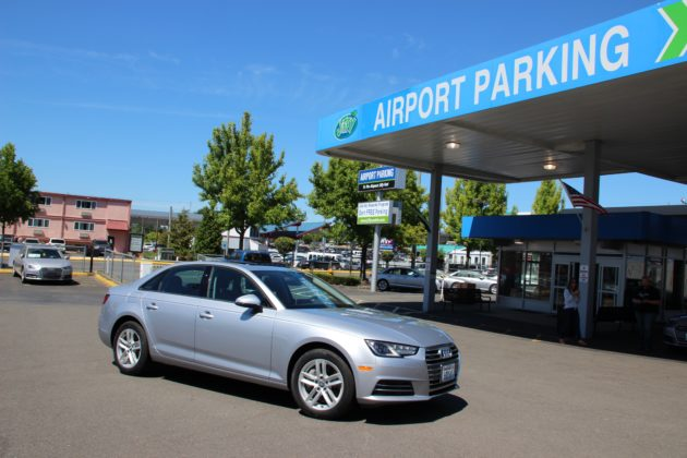 There Are 50 Audi A4 Sedans Sitting In Silvercaru0027s New Airport Lot In  Seattle. (GeekWire Photos/Taylor Soper)