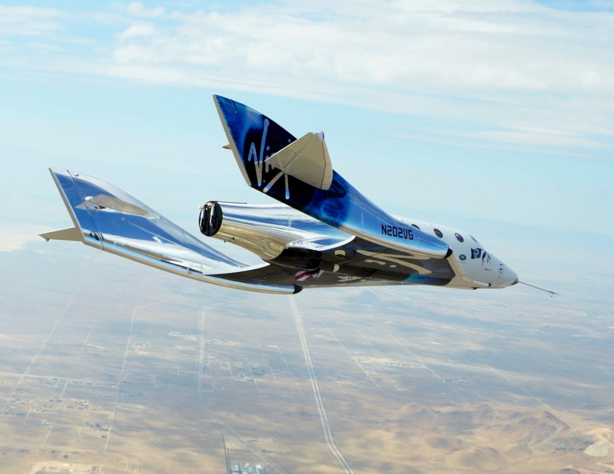 Spaceshiptwo Plane Glides Through A Weightier Test Flight