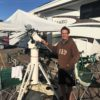 John LaPlante and telescope