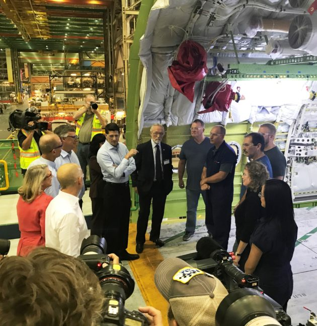 Speaker Paul Ryan tours Boeing plant