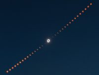 Composite eclipse photo