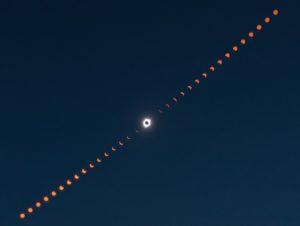 Composite eclipse photo