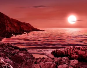 Red dwarf planet