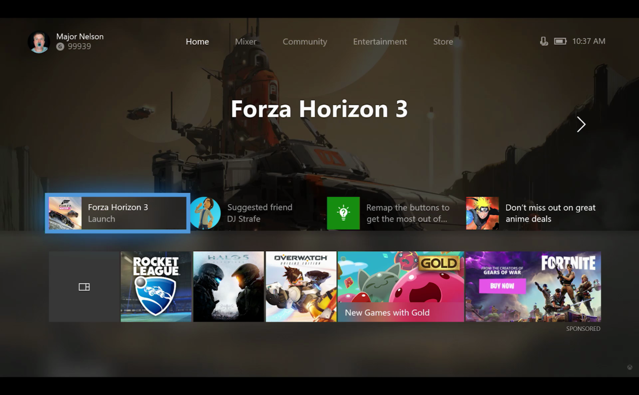And remember xbox live gold is more than just great deals on games - Spotify Arrives On Xbox Live As Microsoft Revamps Xbox Dashboard With Fluent Design